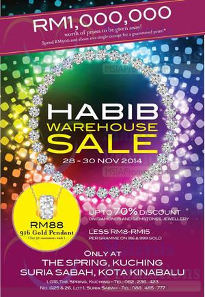 Featured image for Habib Warehouse Sale @ The Spring & Suria Sabah 28 – 30 Nov 2014