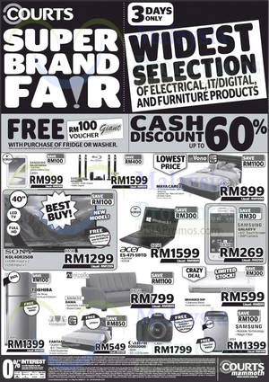 Featured image for Courts Megastore & Courts Mammoth Promo Offers 1 – 3 Nov 2014