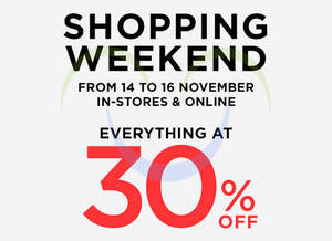 Featured image for Mango 30% Off Storewide Sale 14 – 16 Nov 2014