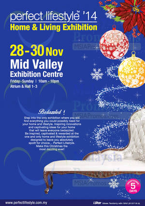 Featured image for Perfect Lifestyle Home & Living Exhibition @ Mid Valley Exhibition Centre 28 – 30 Nov 2014