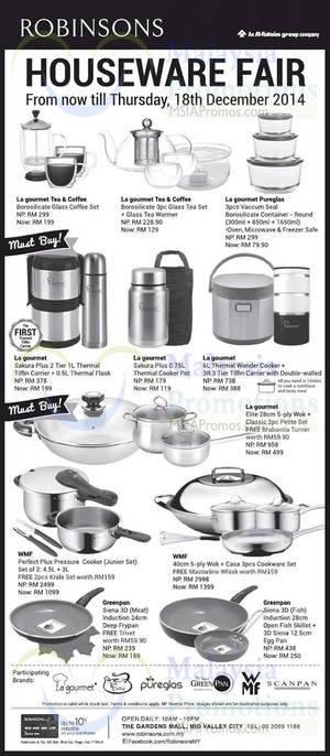 Featured image for Robinsons Houseware Fair Offers 28 Nov – 18 Dec 2014