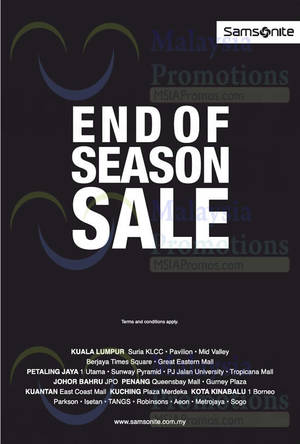 Featured image for Samsonite End of Season SALE 13 Nov 2014
