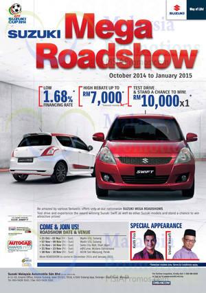 Featured image for Suzuki Mega Roadshow @ e@Curve 21 – 23 Nov 2014