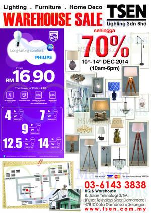 Featured image for TSEN Lighting Warehouse Sale 10 – 14 Dec 2014