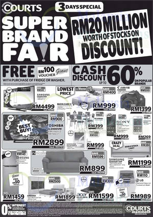 Featured image for Courts Mammoth & Megastore Promo Offers 8 – 10 Nov 2014