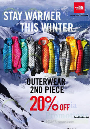 Featured image for The North Face 20% Off 2nd Piece Promotion 24 Nov 2014 – 4 Jan 2015