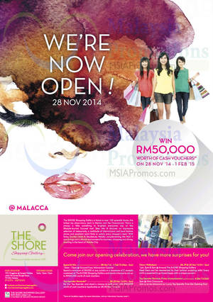 Featured image for The Shore Shopping Gallery Malacca Now Open 28 Nov 2014