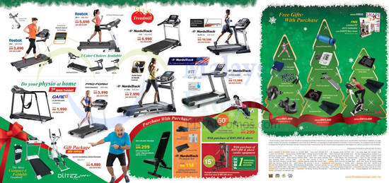 Treadmills, Purchase with Purchase, Free Gifts
