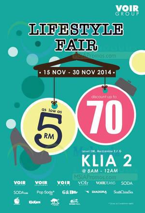 Featured image for Voir Group Lifestyle Fair @ KLIA2 15 – 30 Nov 2014