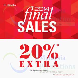 Featured image for Elianto Final Sale 22 Dec 2014 – 4 Jan 2015