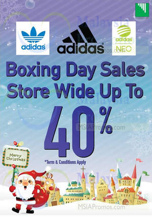 Featured image for Adidas Up To 40% Off Boxing Day Sale 25 – 26 Dec 2014