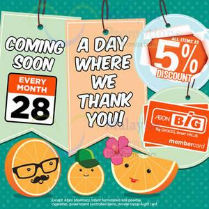 Featured image for Aeon BIG 5% Off Storewide Member Promo 28 Dec 2014