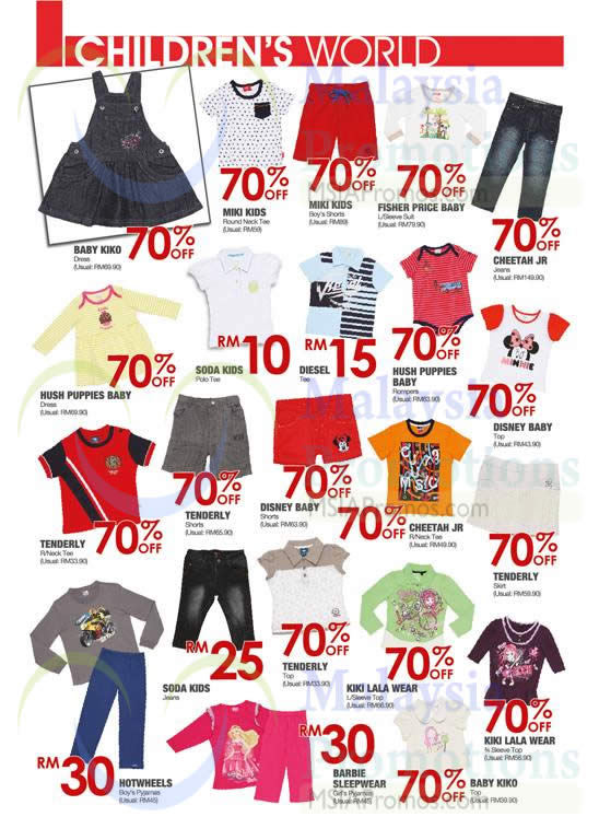 Childrens World T Shirts, Dresses, Suit, Jeans, Tops