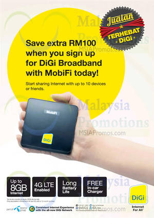 Featured image for DiGi RM100 Off Broadband With MobiFi 3 Dec 2014