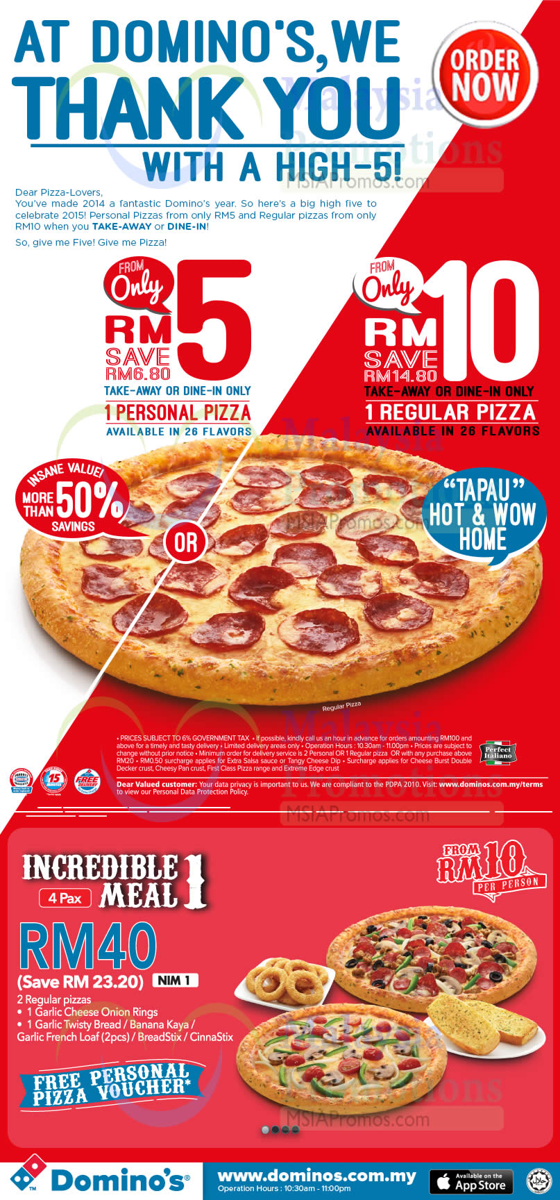 Page 2 » List of Domino's Pizza related Sales, Deals