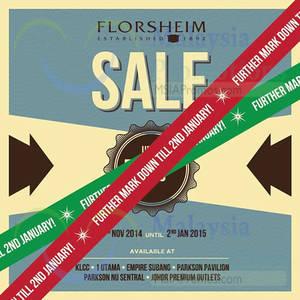 Featured image for Florsheim Sale (Further Markdown) 15 Nov 2014 – 2 Jan 2015