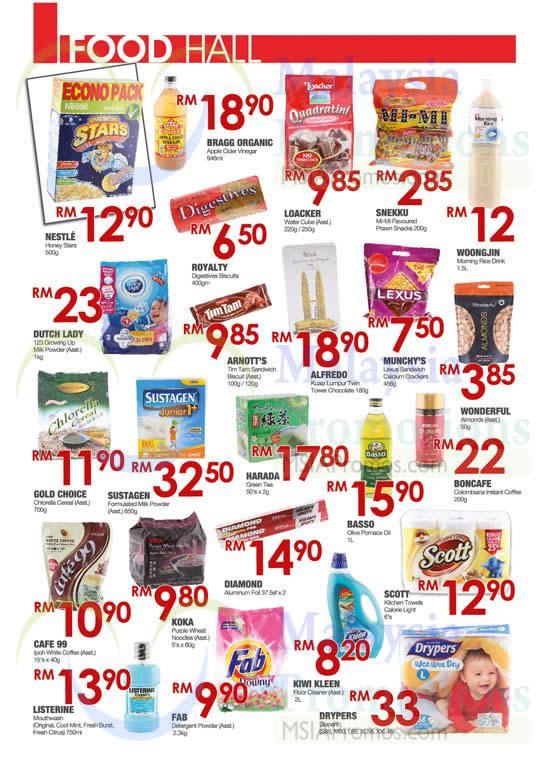 Food Hall Milk Powders, Biscuits, Cereals, Coffee, Detergent Powders, Towels
