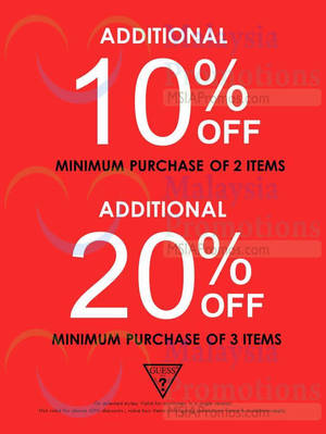 Featured image for Guess Up To 20% Off @ Johor Premium Outlets 5 – 14 Dec 2014