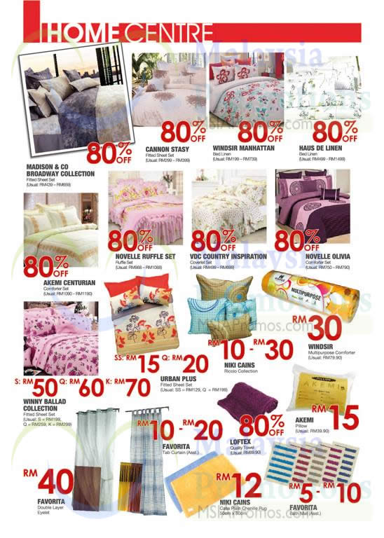 Home Centre Bedsheet Sets, Comforters, Bathmats, Curtains, Cannot Stasy, Haus De Linen, Novelle