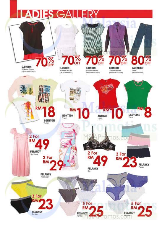 Ladies Gallery T-Shirts, Bras, Panties