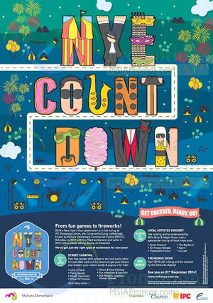 Featured image for IPC Shopping Centre, The Curve & eCurve New Year Countdown 31 Dec 2014