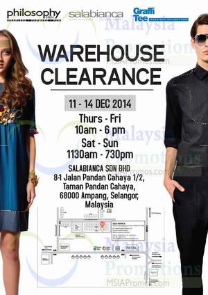 Featured image for Salabianca, Philosophy Men & Graffi Tee Warehouse Clearance SALE @ Selangor 11 – 14 Dec 2014