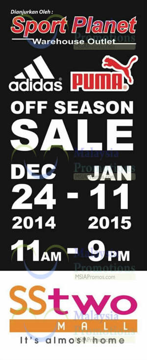 Featured image for Sport Planet Off Season Sale @ SStwo Mall 24 Dec 2014 – 11 Jan 2015