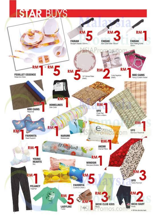 Star Buys Knives, Plates, Head Support, Bolster, Table Runner, T-Shirt, Leggings, Pants