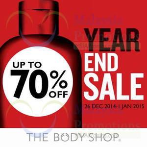 Featured image for The Body Shop Year End Sale 26 Dec 2014 – 4 Jan 2015