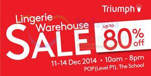 Featured image for Triumph Lingerie Warehouse Sale @ Jaya One 11 – 14 Dec 2014