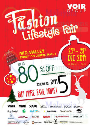 Featured image for Voir Group Fashion Lifestyle Fair @ Mid Valley 25 – 28 Dec 2014