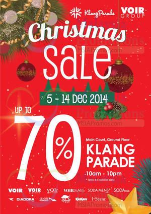 Featured image for Voir Christmas Sale @ Klang Parade 5 – 14 Dec 2014