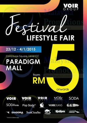 Featured image for Voir Group Lifestyle Fair @ Paradigm Mall 23 Dec 2014 – 4 Jan 2015
