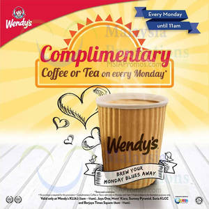 Featured image for Wendy's FREE Coffee Giveaway Mondays 22 Dec 2014