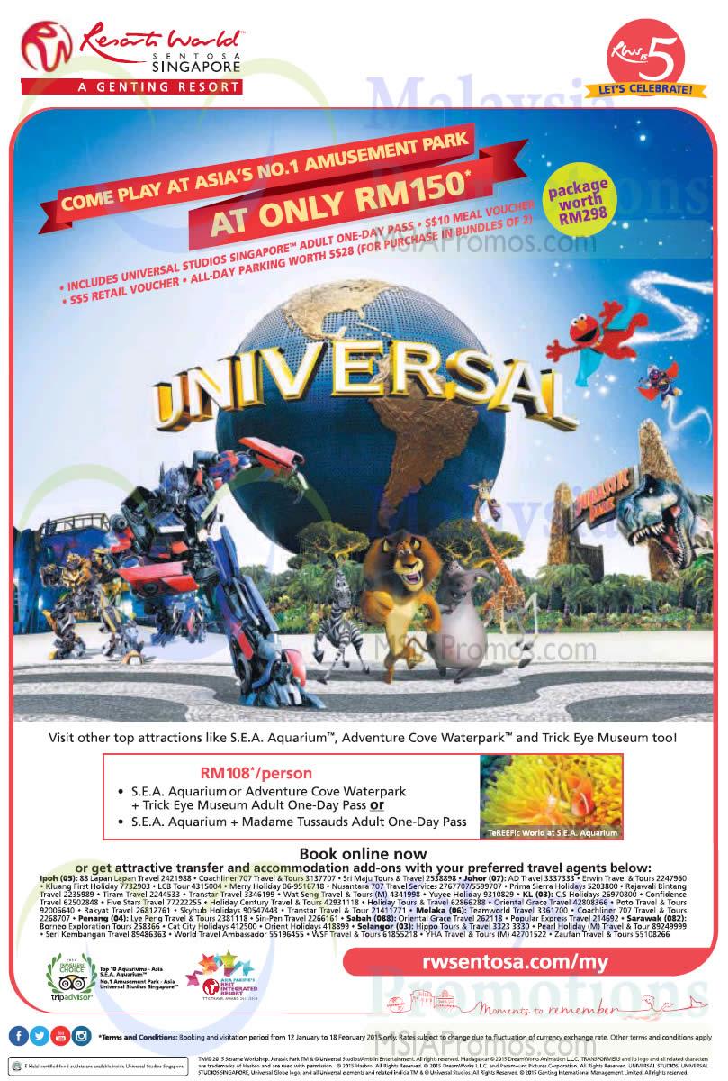 Universal Studios S 56 Rm150 1 Day Pass Promo 12 Jan