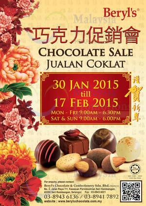 Featured image for Beryl's Chocolate Warehouse SALE @ Seri Kembangan Selangor 30 Jan – 17 Feb 2015