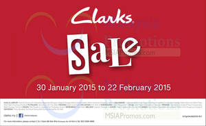 Featured image for Clarks SALE 30 Jan – 22 Feb 2015