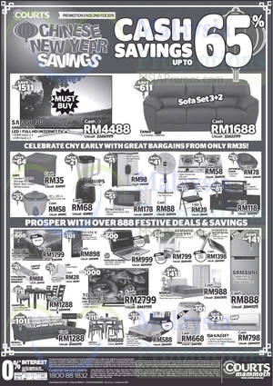 Featured image for Courts Mammoth CNY Savings Offers 31 Jan – 2 Feb 2015