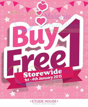 Featured image for Etude House Buy 1 Get 1 FREE Promo @ Nationwide 1 – 4 Jan 2015