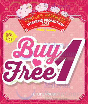 Featured image for Etude House Buy 1 Get 1 FREE Promo (Fri – Sun) 9 – 31 Jan 2015