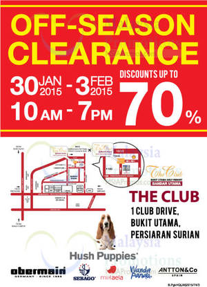Hush Puppies Off-Season Clearance   Petaling Jaya 30 Jan – 3 Feb 2015 ad7d5deff2