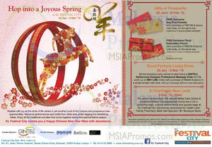 Featured image for KL Festival City Joyous Spring Promotions & Activities 23 Jan – 5 Mar 2015
