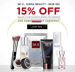 Featured image for Luxola 15% OFF SK-II, Sigma Beauty & Skin Inc (NO Min Spend) Coupon Code 31 Jan 2015