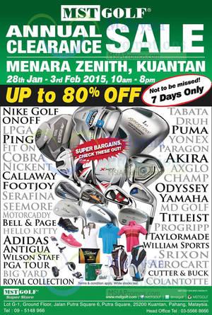 Featured image for MST Golf Clearance SALE @ Menara Zenith Kuantan Pahang 28 Jan – 3 Feb 2015