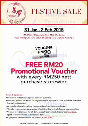 Featured image for Metrojaya Spend RM250 & Get FREE RM20 Voucher 31 Jan – 2 Feb 2015