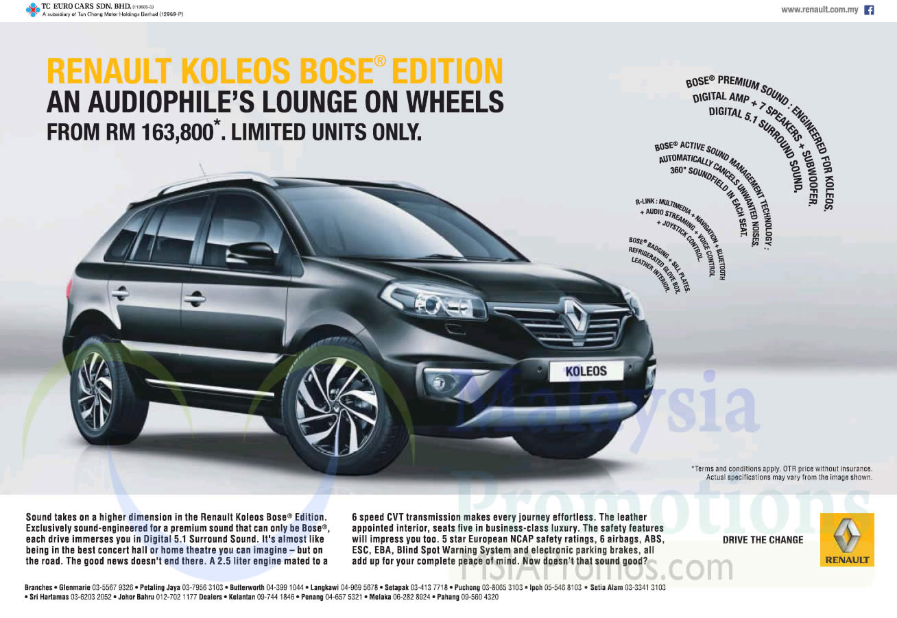 Renault 10 Jan 2015 » Renault Koleos Bose Edition Offer 10