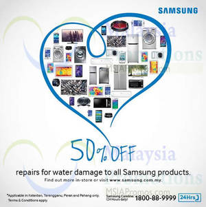 Featured image for Samsung 50% Off Repair Services 7 – 31 Jan 2015