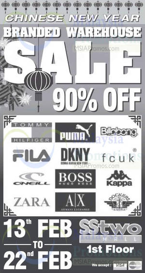 Featured image for SStwo Mall Branded Warehouse Sale 13 – 22 Feb 2015