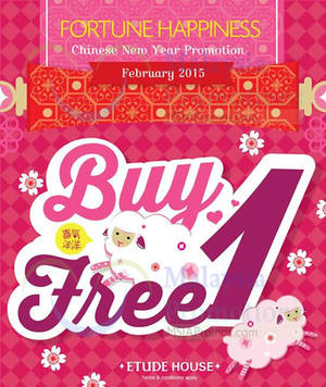 Featured image for Etude House Buy 1 Get 1 FREE Storewide Promo @ Nationwide 7 – 28 Feb 2015