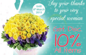 Featured image for FlowerAdvisor 10% OFF Storewide Coupon Code 28 Feb – 8 Mar 2015
